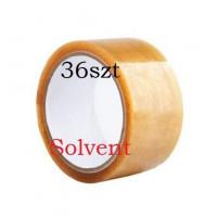 Taśma pakowa 48x66y transparent solvent - 36szt