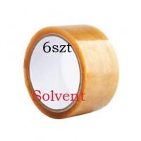 Taśma pakowa 48x66y transparent solvent - 6szt