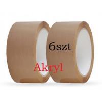 Taśma pakowa 48x60y brąz AKRYL - 6szt