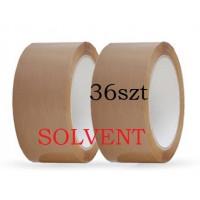 Taśma pakowa 48x66y brąz solvent - 36szt